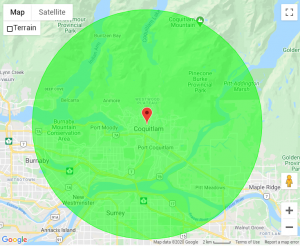 Coquitlam-Roofers-Service-Map