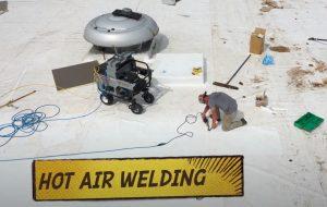 Coquitlam Roofers doing Hot Air Welding
