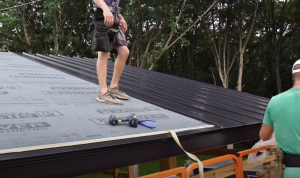 Coquitlam Roofers installing metal roof
