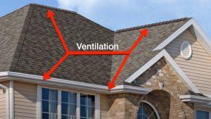Coquitlam Roofers ventilation illustration