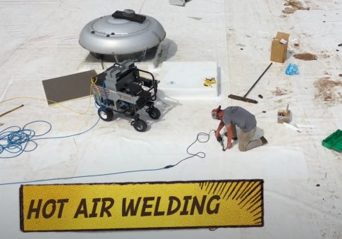 Coquitlam Roofers doing Hot Air Welding